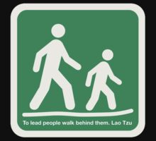 To lead people walk behind them - Lao Tsu  by RobertKShaw