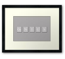Genius Periodic Elements  Framed Print