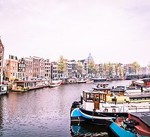 Amstel River Amsterdam  by Crystal  Ash
