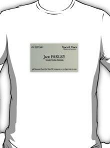 Jack Farley Business Card T-Shirt