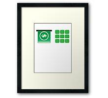 Money ATM machine design Framed Print