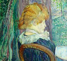 Woman sitting in a garden by Bridgeman Art Library