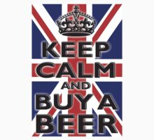 UNION JACK FLAG KEEP CALM & BUY A BEER, UK by TOM HILL - Designer