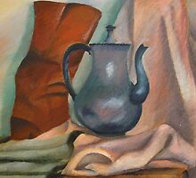 still life with pitcher by purplestgirl