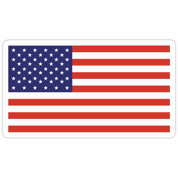 American FLAG; STARS & STRIPES; PURE & SIMPLE; USA by TOM HILL - Designer