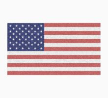 USA FLAG FADED; STARS & STRIPES; PURE & SIMPLE by TOM HILL - Designer