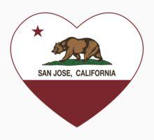 San Jose California Love Heart  Kids Clothes