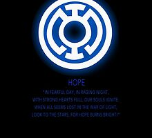 Blue Lantern Corps oath by Raccoon-god