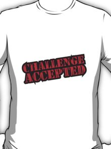 Stempel Logo Challenge Accepted T-Shirt