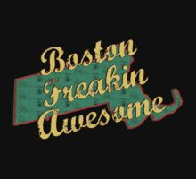 Boston Massachusetts Freaking Awesome by FamilyT-Shirts