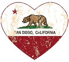 San Diego California  Love Heart Distressed by NorCal
