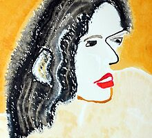 One Brush Woman original painting by CrowRisingMedia