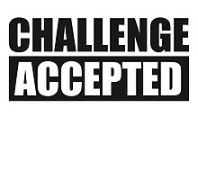 Challenge Accepted Text Logo by Style-O-Mat