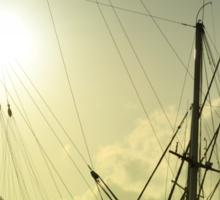 boat masts Sticker