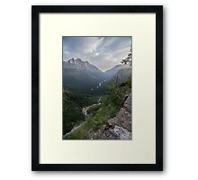 Logan's Pass, Glacier National Park Framed Print