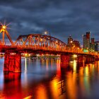 Hawthorne Bridge At Night by thomr
