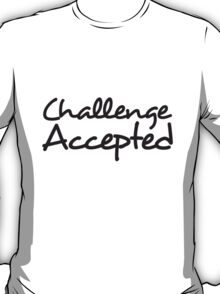 Challenge Accepted Comic Design T-Shirt