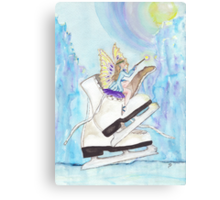 Glacier Skating Fairy Canvas Print