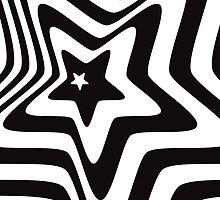 black and white star illusion background by elgreko