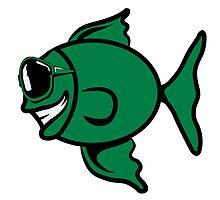 funny happy sunglasses fish by Motiv-Lady