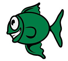 funny happy fish by Motiv-Lady