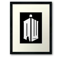 Dalek (exterminate/white) Framed Print
