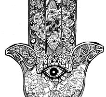 Hamsa Hand 2.0 by Carolyn Huane