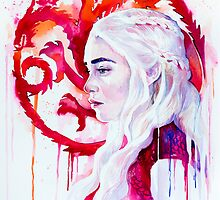 Daenerys Targaryen - game of thrones 4 by Slaveika Aladjova