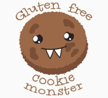Gluten Free Cookie Monster with cute kawaii biscuit by jazzydevil