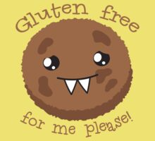 Gluten free for me please with cute kawai cookie monster Kids Clothes