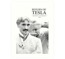 Return of Tesla Poster Image 2 Black/White Art Print
