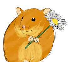 Hamster holding a flower by mllemaple
