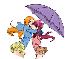 Orihime and Riruka's Rainy Day by lolychan123