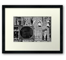 Diner Window 8 Black and White Framed Print