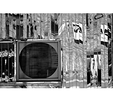 Diner Window 8 Black and White Photographic Print