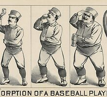 Absorption of a Baseball Player - Vintage Baseball Poster from 1889 by bluemonocle