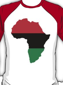 Red, Black & Green Africa Flag T-Shirt