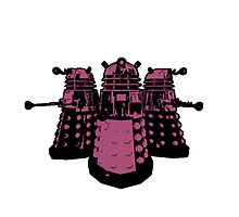 Daleks (Pink) by Cosmodious