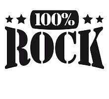 100% Rock Text Design by Style-O-Mat