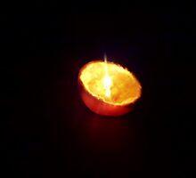 Orange Candle by Natasha  Ashwe