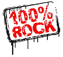 100% Rock Stempel Graffiti by Style-O-Mat