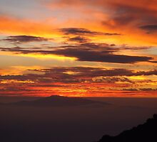Mauna Kea Hawaii scenic sunset print by artisticattitud