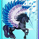 Blue Winged Pegasus by Lotacats