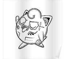 Jigglypuff de los Muertos | Pokemon & Day of The Dead Mashup Poster