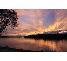 Sunset over Chinderah .. Photographic Print
