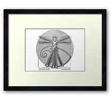 The Burtonian Man Framed Print