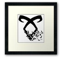 Black Angelic Rune (Birds)  Framed Print