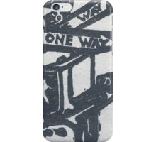 black and silver street signs iPhone Case/Skin