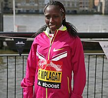 london Marathon   Florence Kiplagat  Kenya by Keith Larby