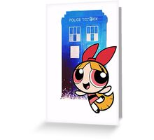 Blossom in the TARDIS Greeting Card